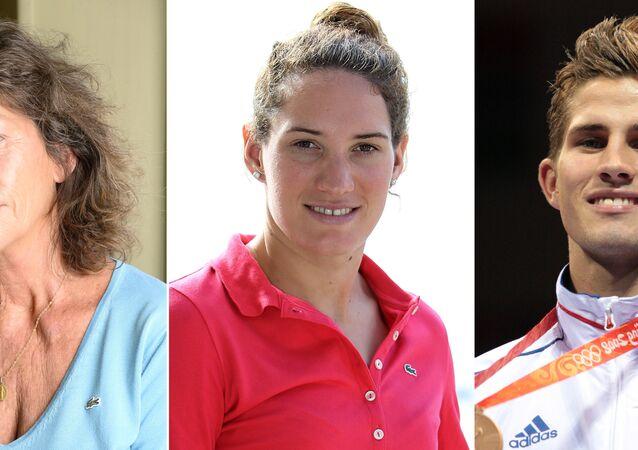 La championne olympique 2012 Camille Muffat et le médaillé des JO 2008 de boxe Alexis Vastine
