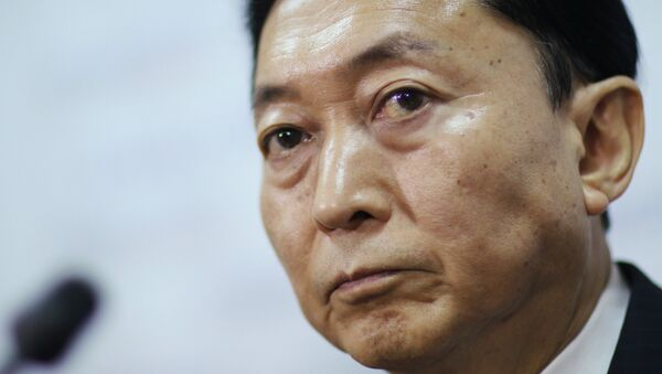 Пресс-конференция бывшего премьер-министра Японии Юкио Хатояма в Симферополе - Sputnik France