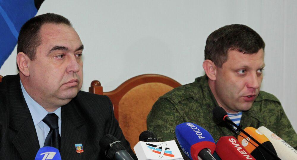 Alexandre Zakhartchenko (à droite) et Igor Plotnitski