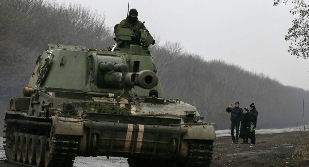 Armée de l'Ukraine près de la ville de Artiómovsk