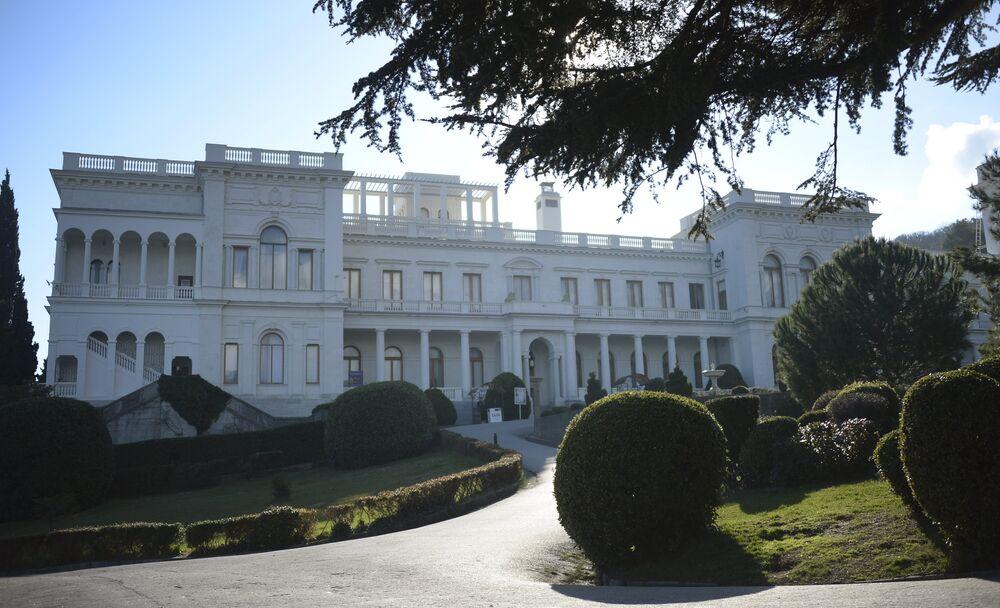 A general view of Livadia palace,  Yalta