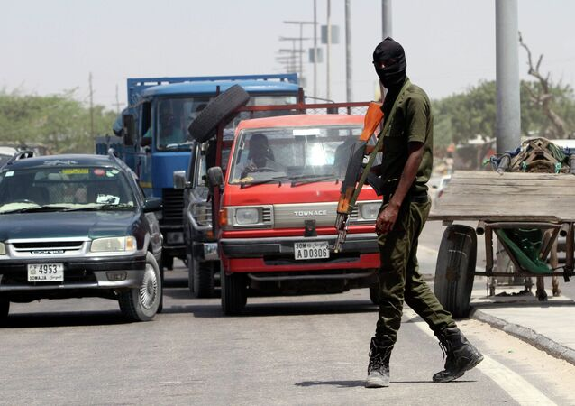 Membre des forces de sécurité somalienne à Mogadiscio