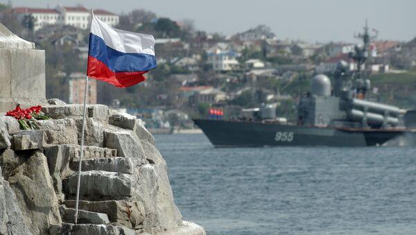 Фрагмент памятника затопленным кораблям в Севастополе - Sputnik France