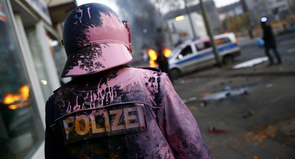 Policier allemand à Francfort
