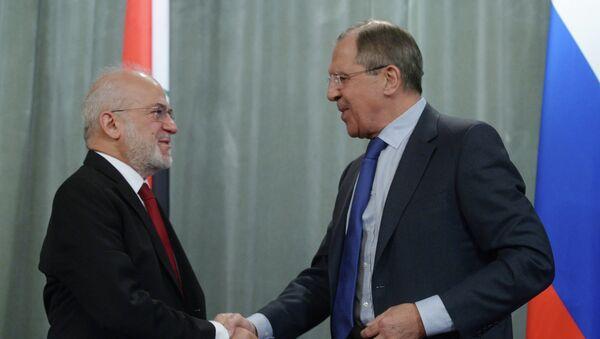 Встреча глав МИД РФ и Ирака С.Лаврова с И.Джаафари - Sputnik France