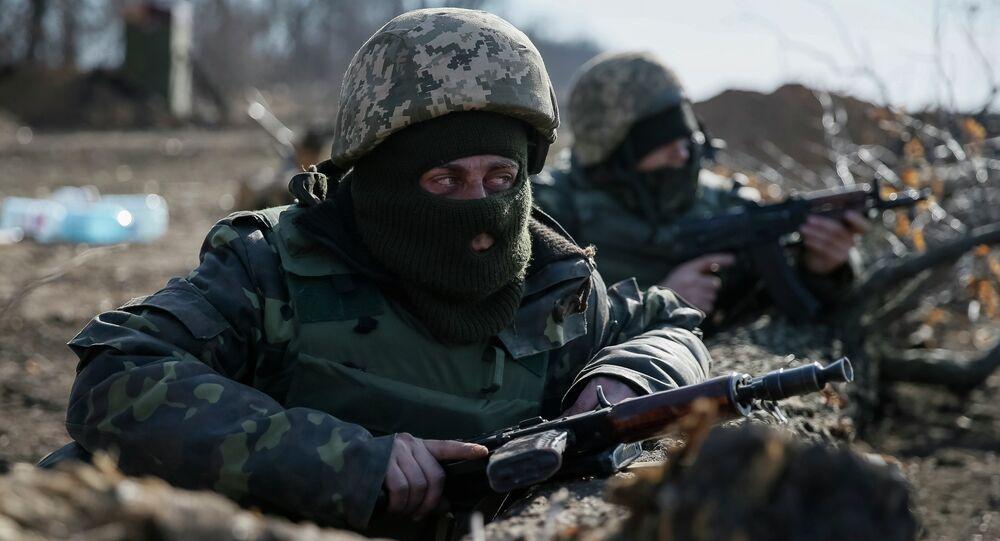 Militaires ukrainiens près de Donetsk