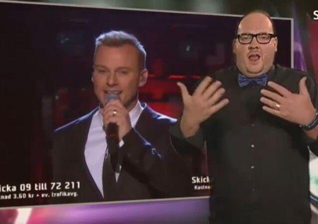 Eurovision 2015 : un interprète en langue des signes fait le show en Suède