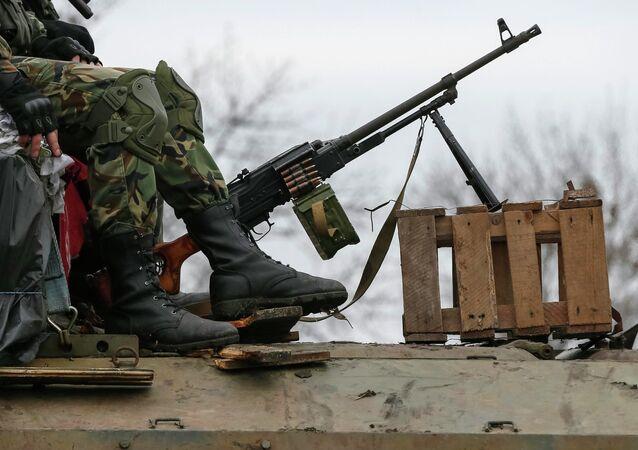 Membres des forces armées ukrainiennes près d'Artemovsk (Archives)