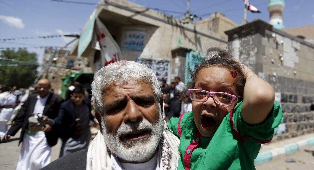 Une fille blessée dans l'attentat à Sanaa