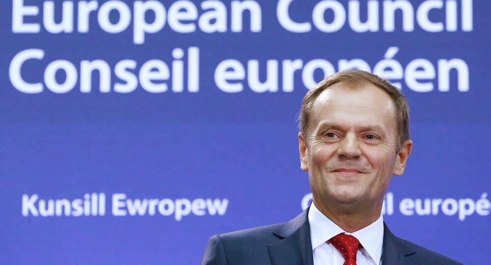 Le président du Conseil européen Donald Tusk