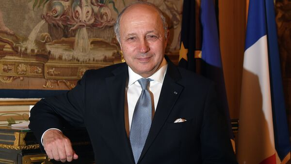 French Foreign Minister Laurent Fabius poses after an interview in Paris on January 6, 2015 in Paris. - Sputnik France