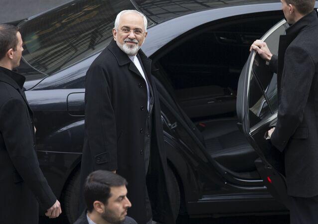 Le ministre iranien des Affaires étrangères Mohammad Javad Zarif après les négociations à Lausanne
