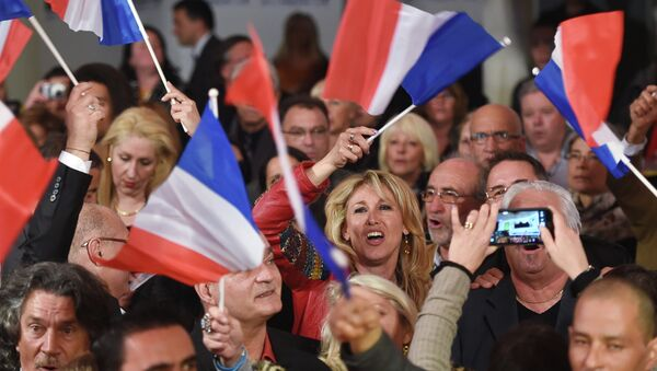 French far-right Front National (FN) party's supporters - Sputnik France