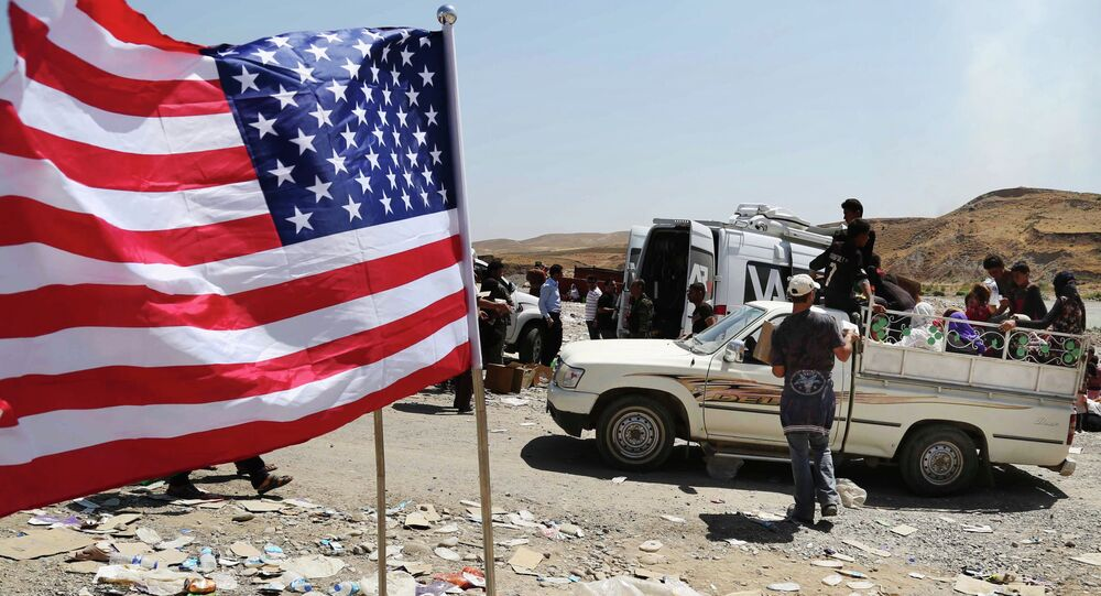 Drapeau US dans le Nord de l'Irak