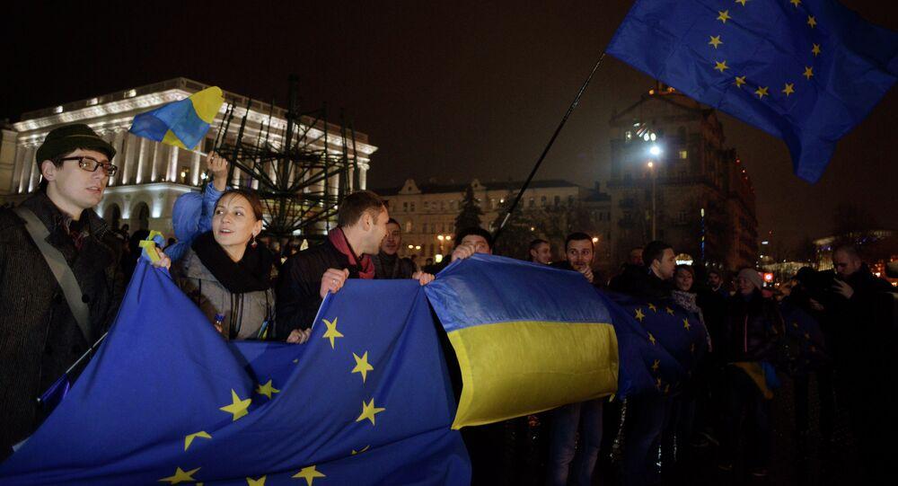 Partisans de l'intégration européenne à Kiev