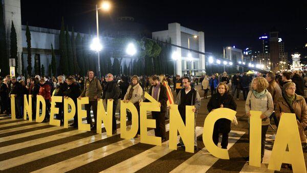 Meeting en soutien de l'indépendance de la Catalogne - Sputnik France