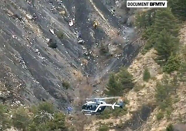 Lieu du crash de l'A320