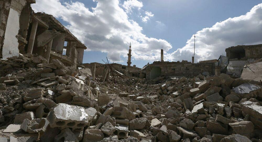 Syrie. Maisons détruites