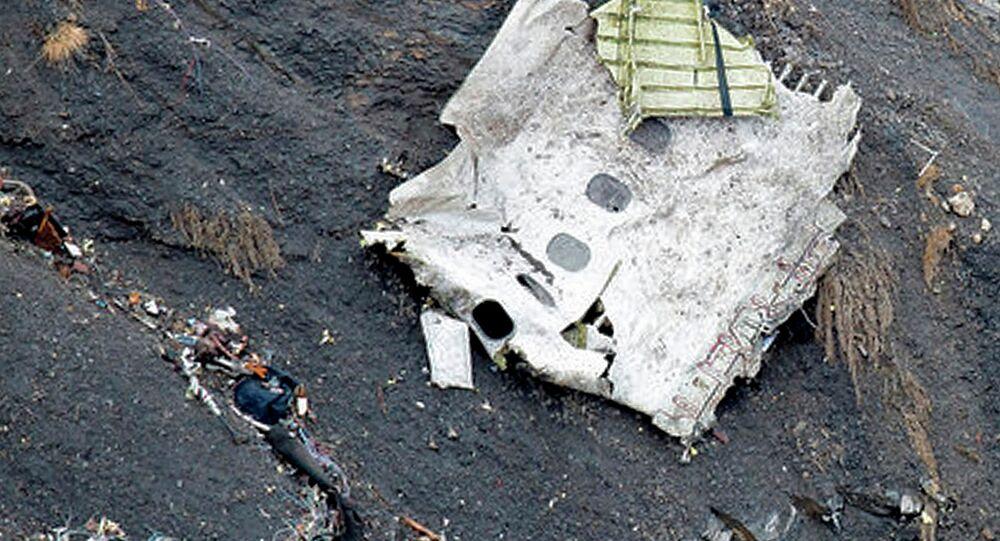 Débris de l'avion Airbus A320
