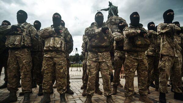 Присяга батальона Азов в Киеве - Sputnik France