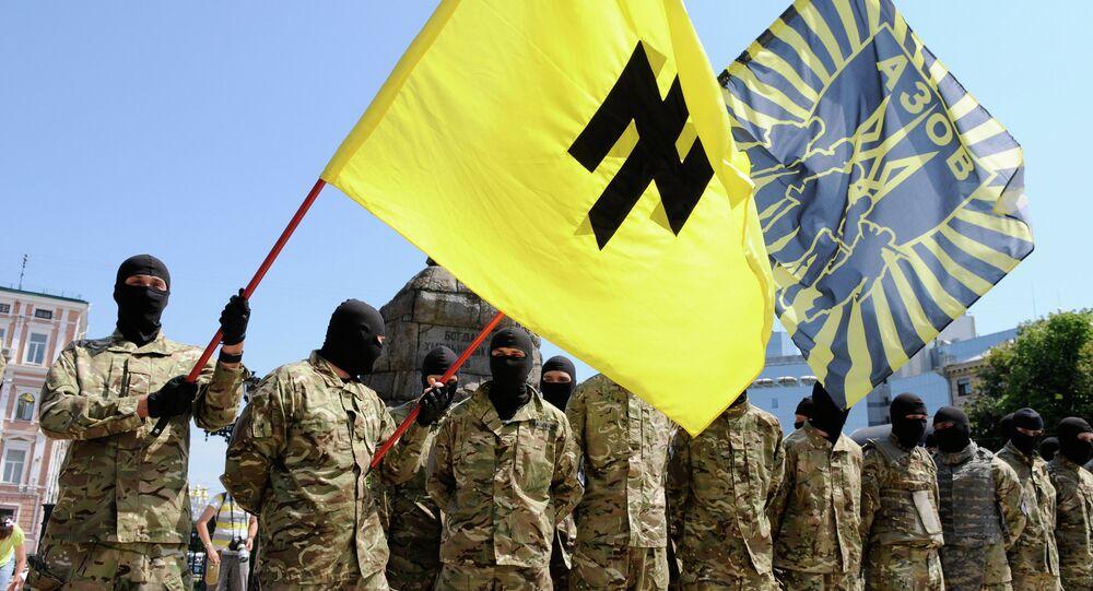 Membres du bataillon de volontaires Azov