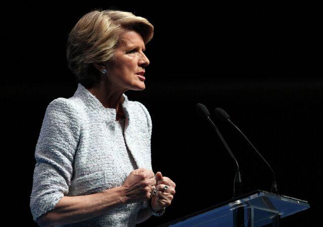 La ministre australienne des Affaires étrangères Julie Bishop