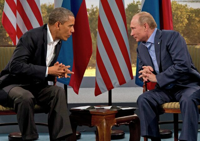 Barack Obama et Vladimir Poutine. Archive photo