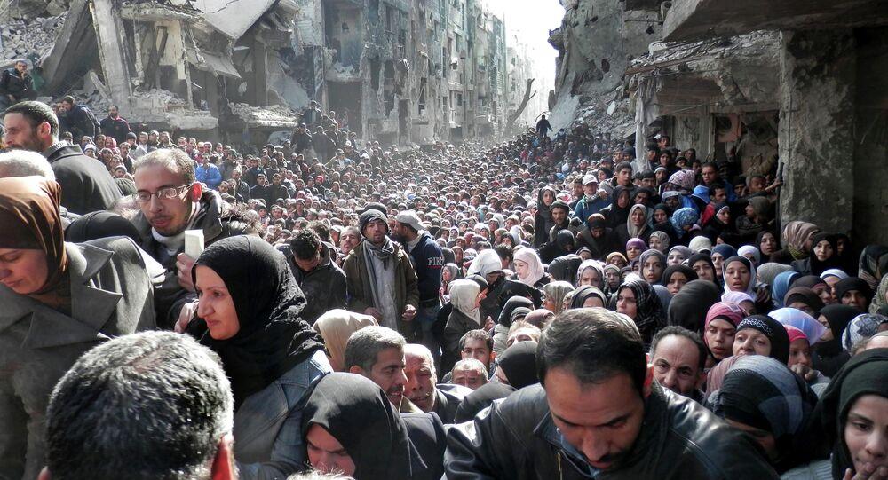 Syrie: le camp de réfugiés de Yarmouk, près de Damas. Archive photo