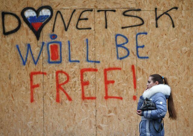 Une pancarte à Donetsk