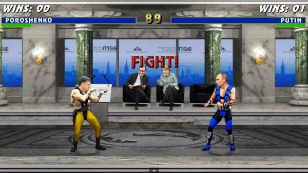 Une vidéo intitulée Mortal Kombat ukrainien représentant les présidents ukrainien et russe comme des personnages du célèbre jeu informatique - Sputnik France