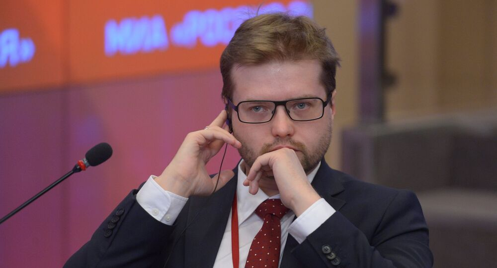 Pavel Rodkine, expert en image de marque et en communication visuelle, candidat en critique d'art, membre du Club Zinoviev de Rossiya Segodnya.