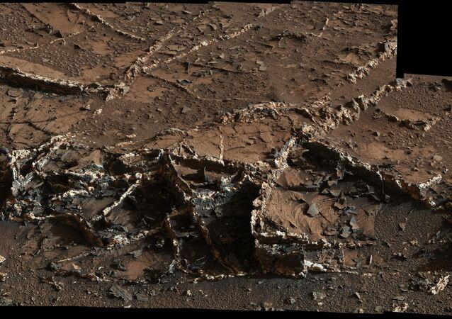 Le robot Curiosity a photographié un fragment de la zone du Mont Sharp sur Mars baptisée Garden City (ville-jardin)