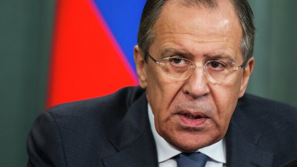 Russian Foreign Minister Sergey Lavrov attends a news conference after his meeting with counterpart from Vanuatu Sato Kilman in Moscow, Russia, Tuesday, March 31, 2015. - Sputnik France