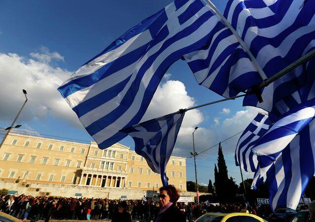 Les drapeaux de la Grèce