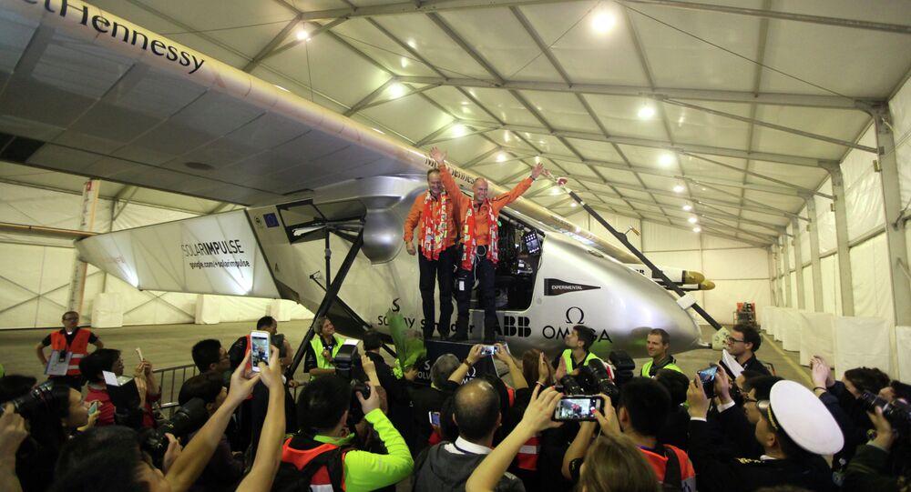 L'avion solaire Solar Impulse 2 a atterri en Chine