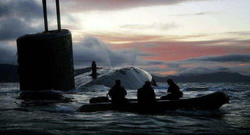 Submarine HMS Talent. Archive photo