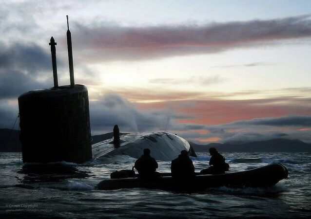 Submarine HMS Talent. Archive photo