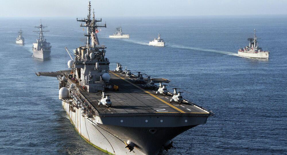 Navires US dans l'Océan Indien