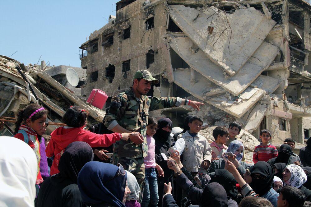 Les réfugiés palestiniens du camp de Yarmouk