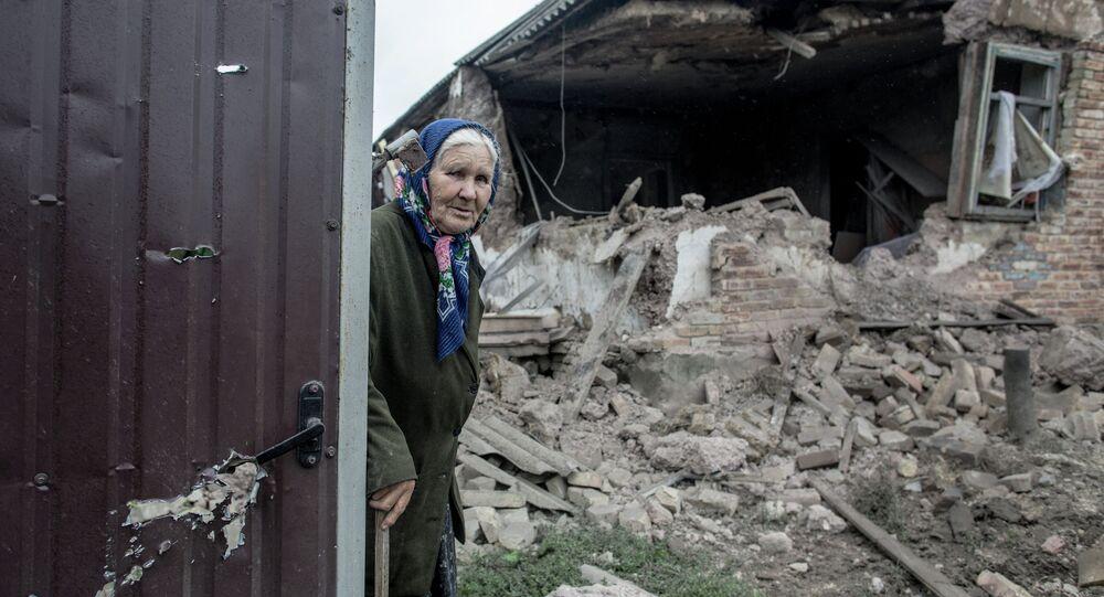 Après un bombardement du village Goloubovka (Archives)