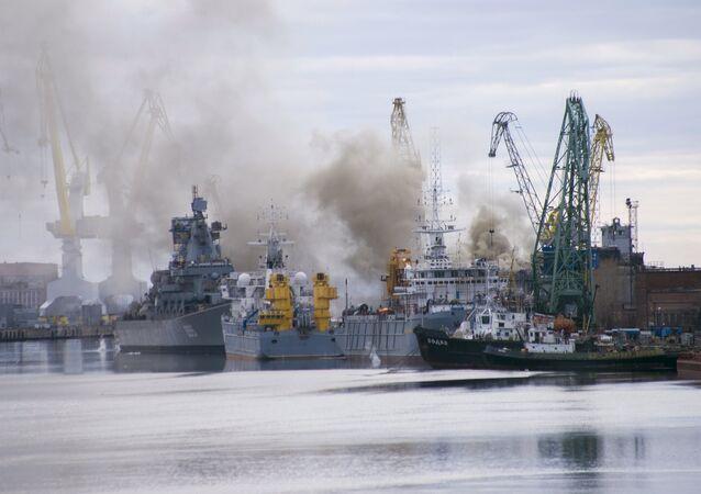 Incendie à bord du sous-marin russe Orel aux chantiers navals Zvezdotchka de Severodvinsk