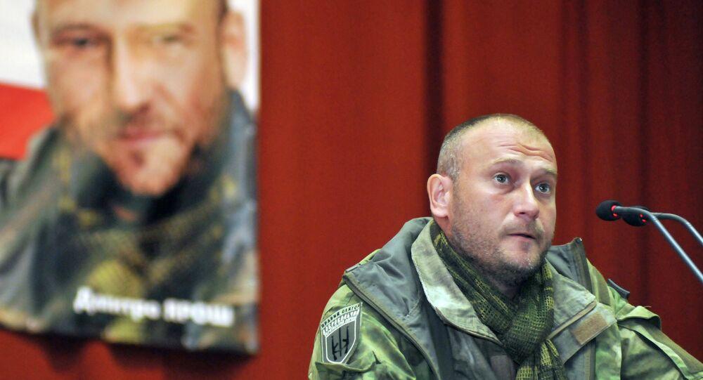 Dmitri Iaroch, chef du mouvement ultranationaliste Pravy Sektor