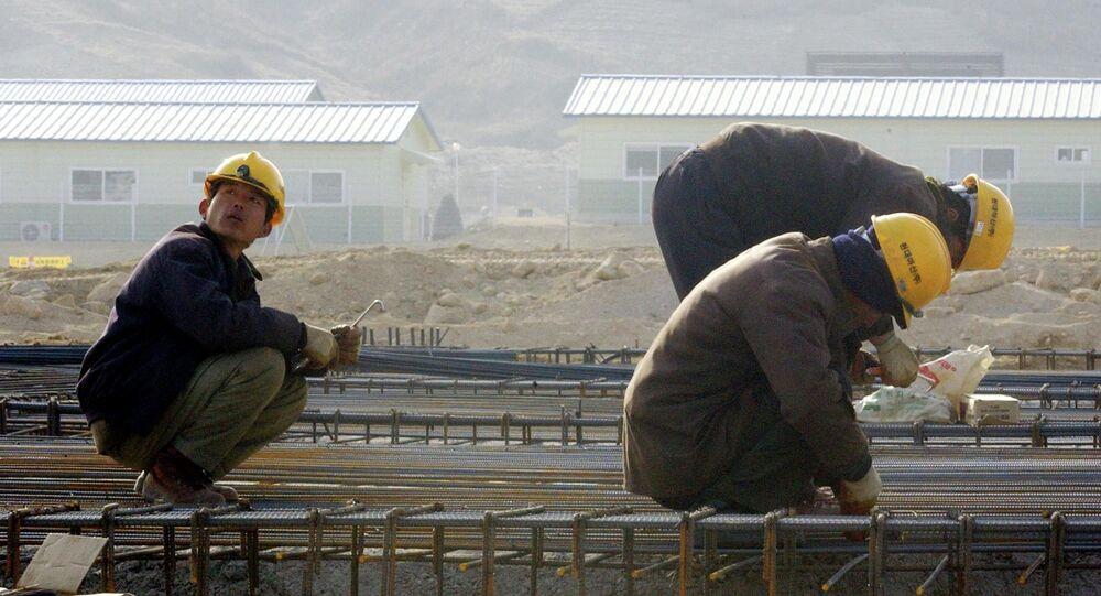 Ouvriers nord-coréens. Archive photo