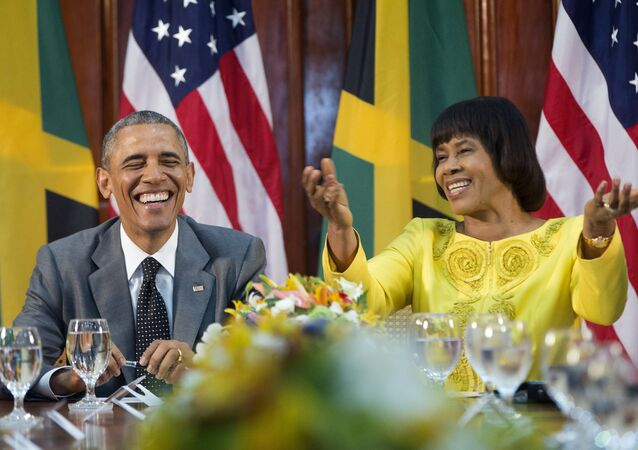 Barack Obama et Portia Simpson-Miller
