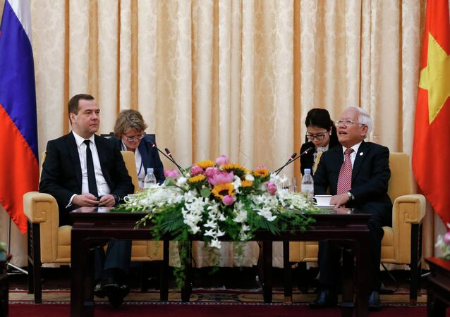 Visite du Premier ministre russe Dmitri Medvedev au Vietnam
