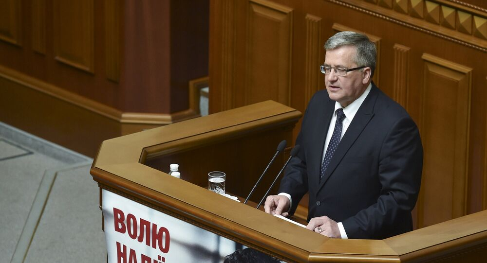 Bronislaw Komorowski au parlement de Kiev