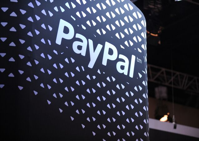 The logo of online payment company PayPal is pictured during LeWeb 2013 event in Saint-Denis near Paris on December 10, 2013