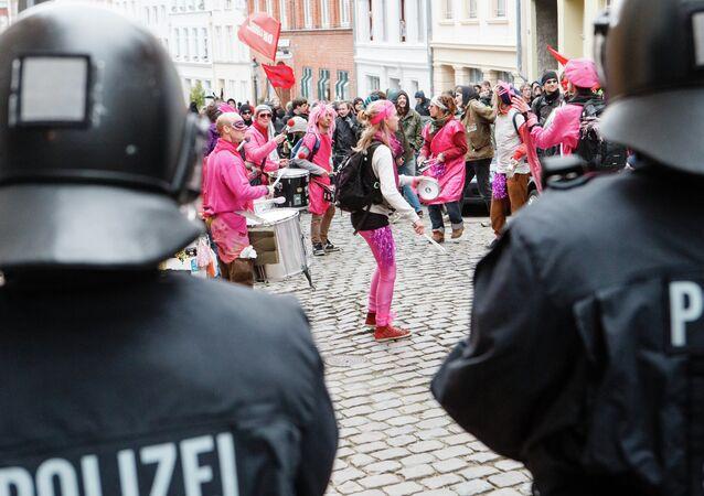 Manifestation de protestation à  Lübeck
