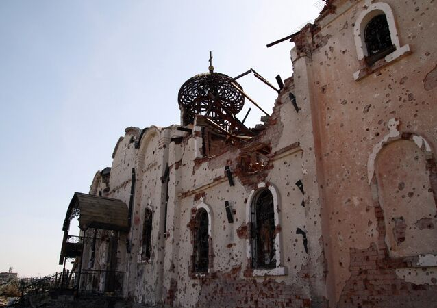 Destructions dans le Donbass ukrainien