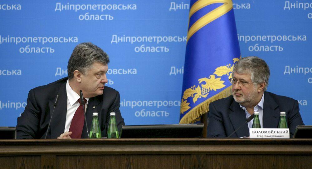 Piotr Porochenko (à gauche) et Igor Kolomoïski